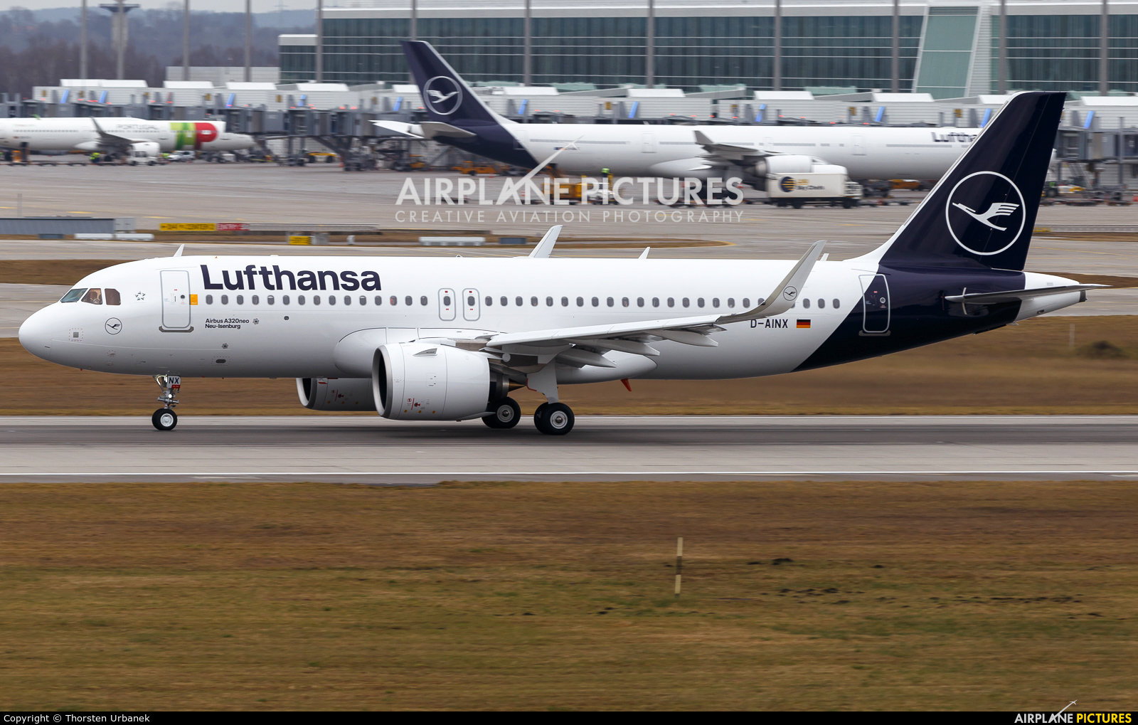 Lufthansa D-AINX aircraft at Munich