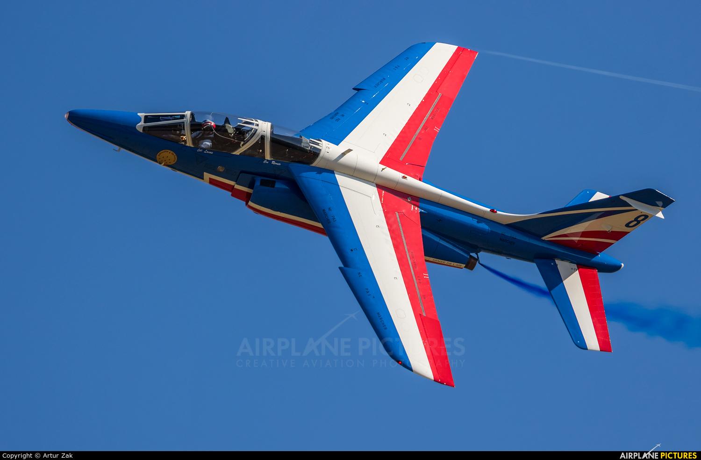 "France - Air Force ""Patrouille de France"" E20 aircraft at Ostrava Mošnov"