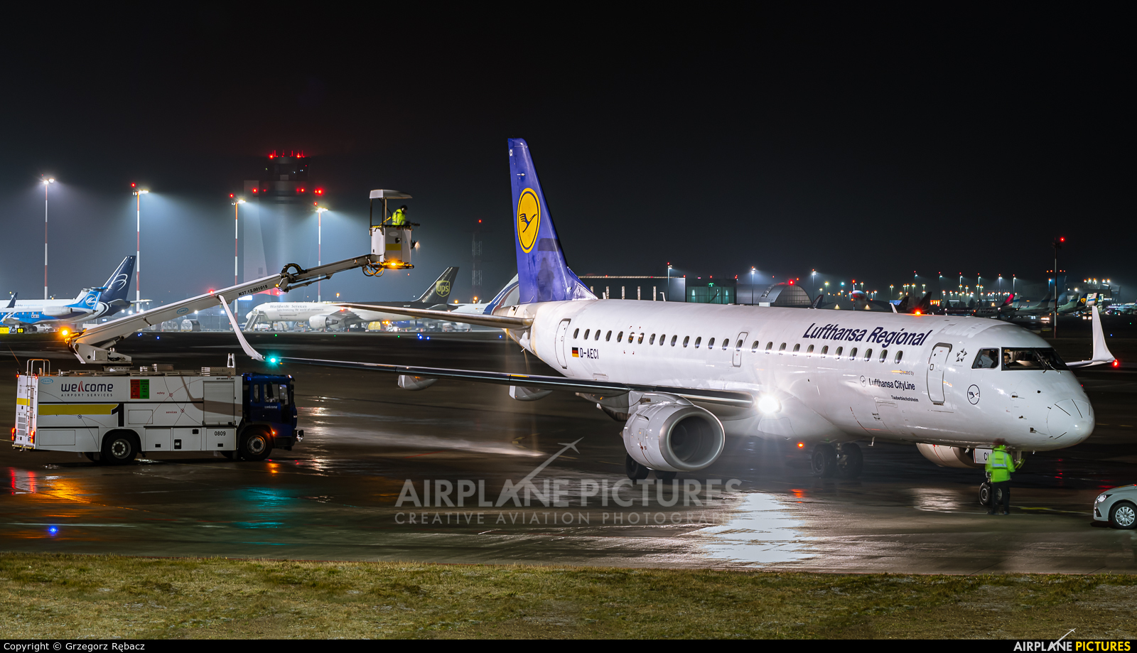 Lufthansa Regional - CityLine D-AECI aircraft at Katowice - Pyrzowice
