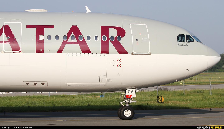 Qatar Airways A7-ACA aircraft at Warsaw - Frederic Chopin