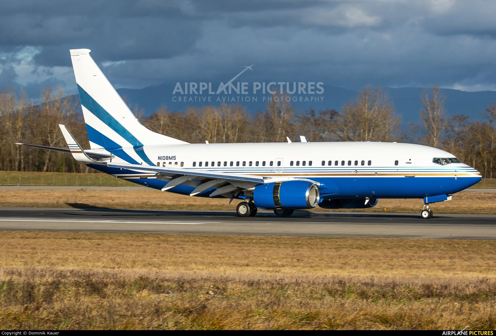 Las Vegas Sands N108MS aircraft at Basel - Mulhouse- Euro