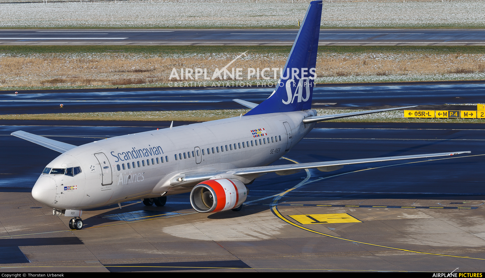 SAS - Scandinavian Airlines SE-RER aircraft at Düsseldorf