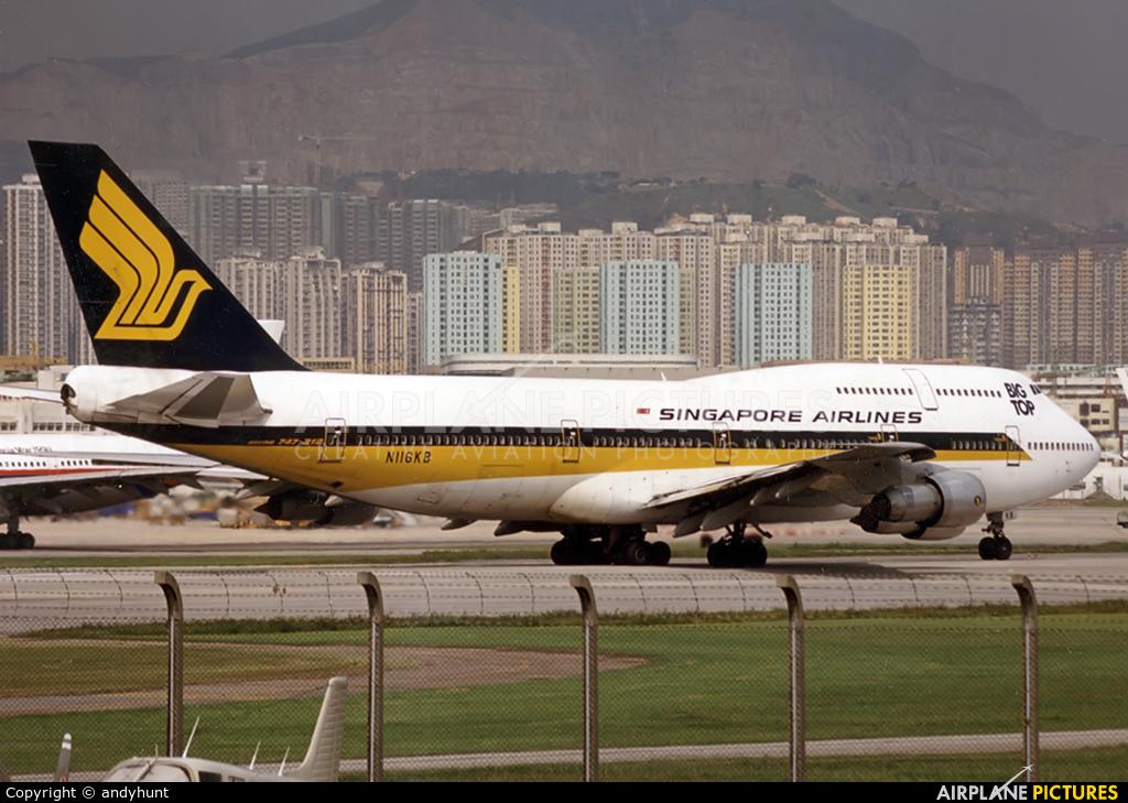 Singapore Airlines N116KB aircraft at HKG - Kai Tak Intl CLOSED