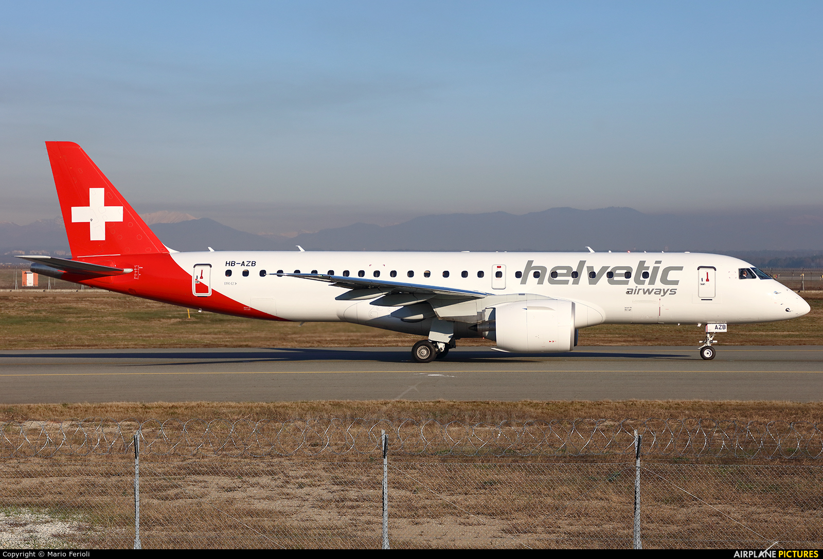 Helvetic Airways HB-AZB aircraft at Milan - Malpensa