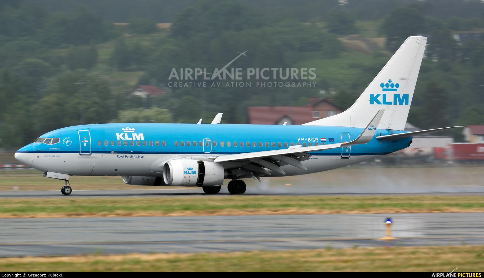 KLM PH-BGR aircraft at Kraków - John Paul II Intl