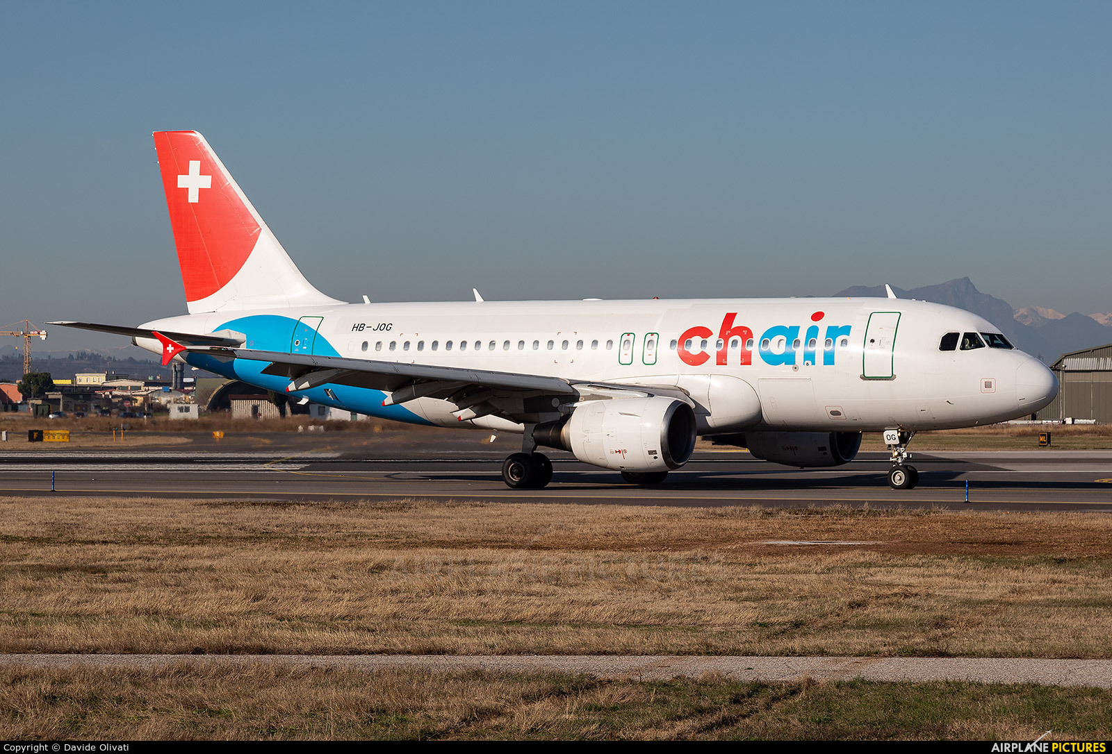 Chair Airlines HB-JOG aircraft at Verona - Villafranca