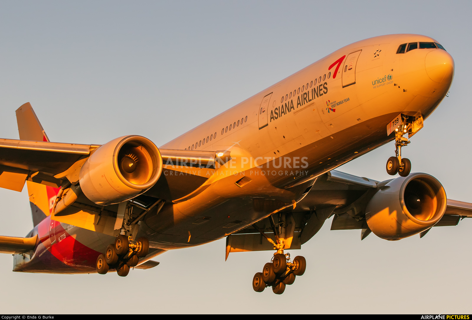Asiana Airlines HL7739 aircraft at Los Angeles Intl