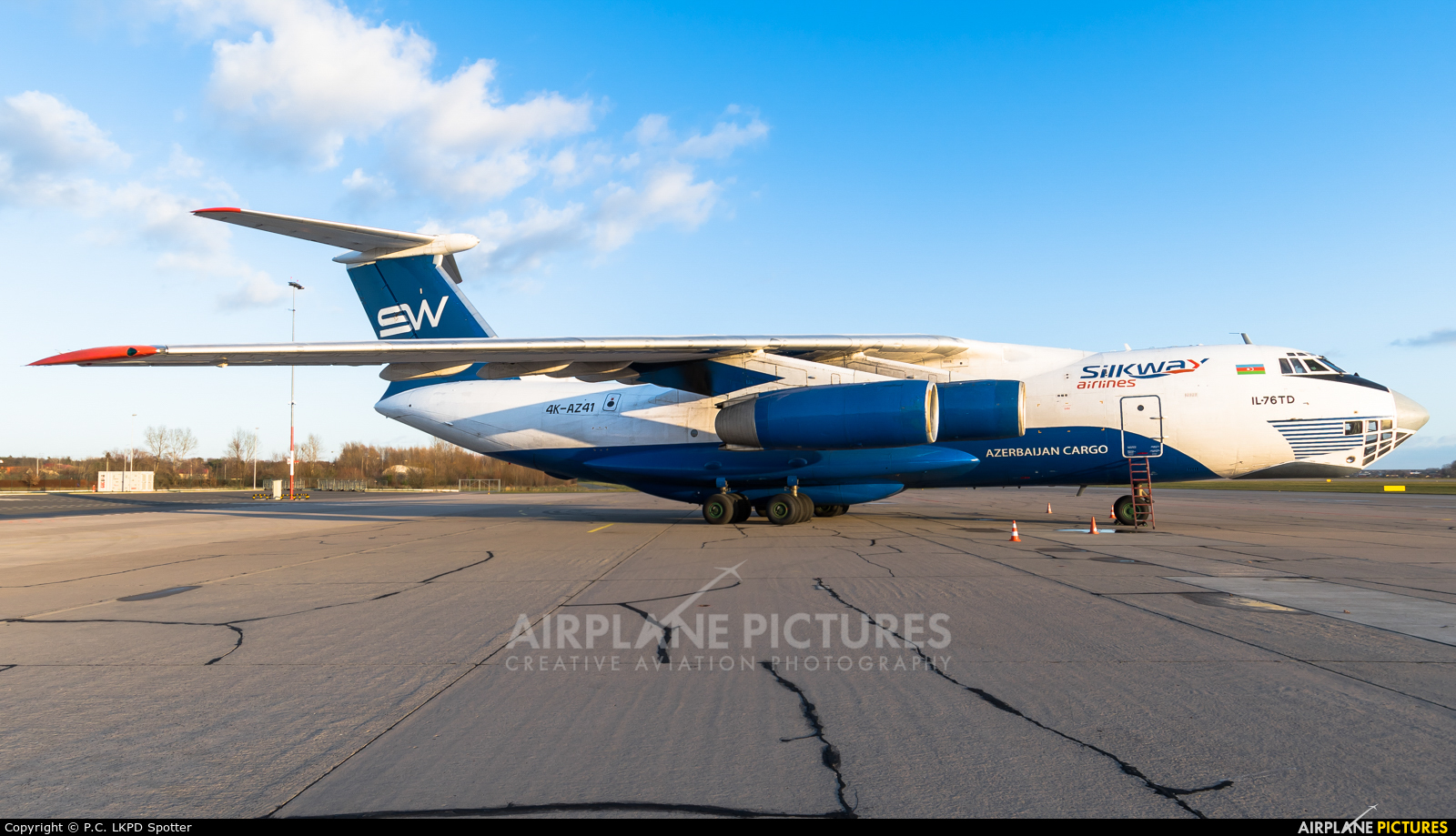 Silk Way Airlines 4K-AZ41 aircraft at Pardubice