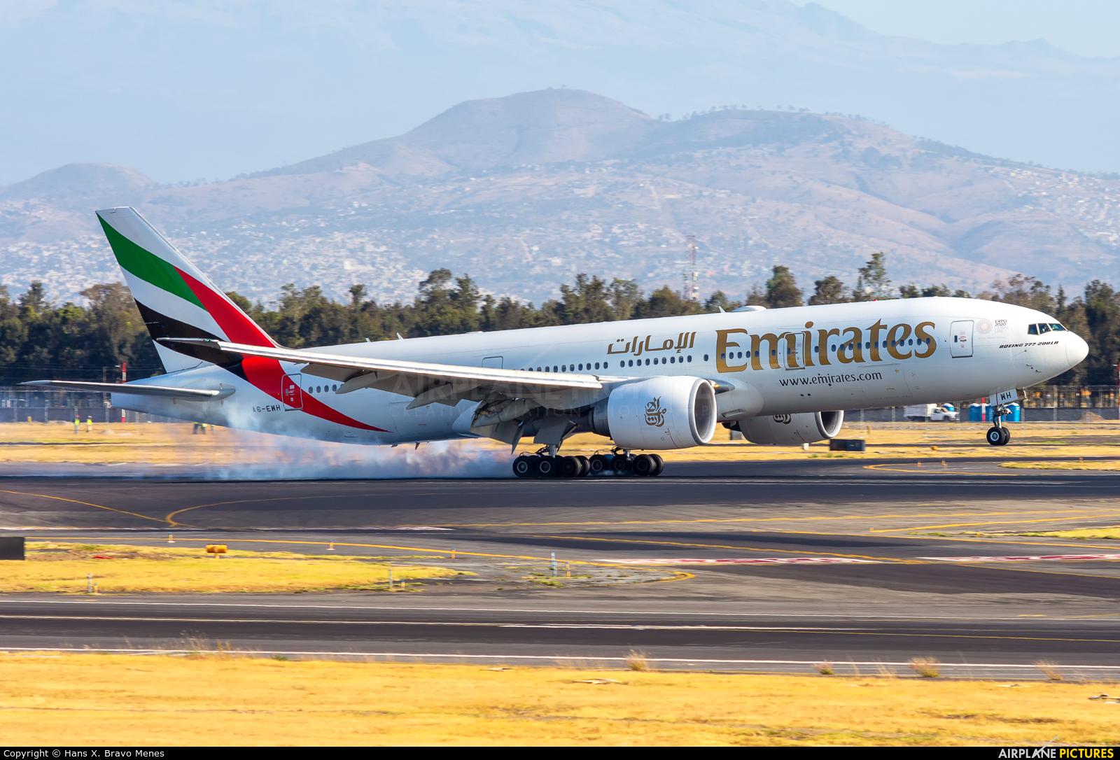 Emirates Airlines A6-EWH aircraft at Mexico City - Licenciado Benito Juarez Intl