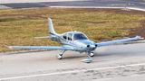Private Cirrus SR20 OK-BOL at Ostrava Mošnov airport