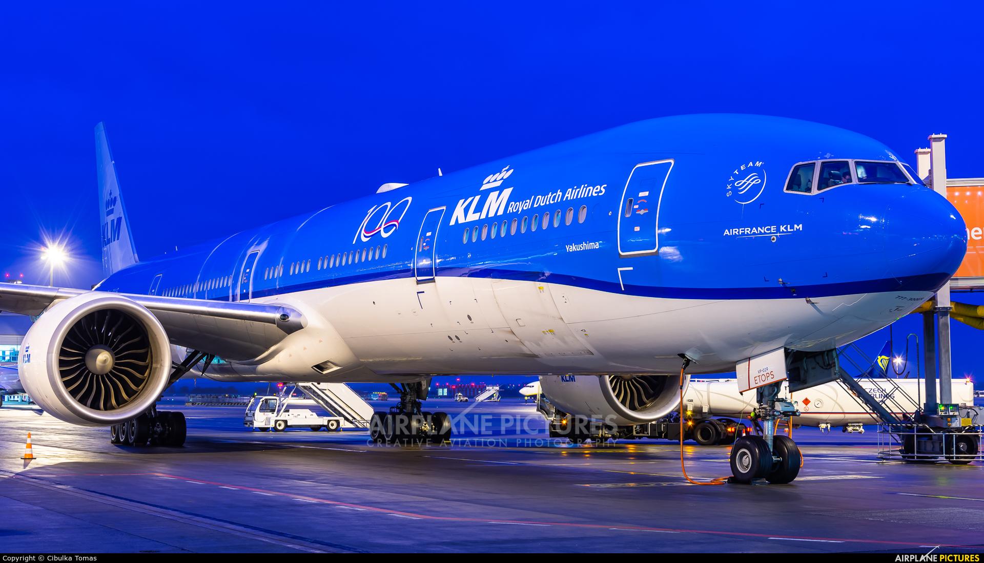 KLM PH-BVF aircraft at Prague - Václav Havel