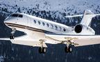 Private Gulfstream Aerospace G650, G650ER VP-CER at Samedan - Engadin airport