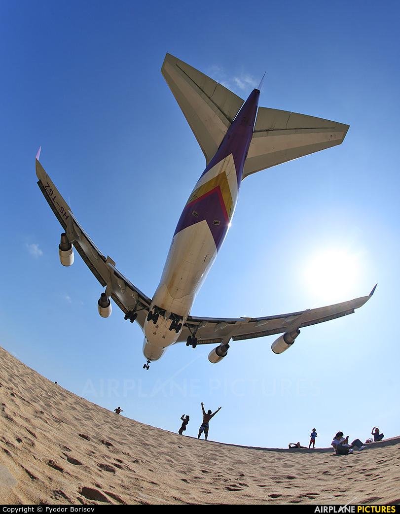 Thai Airways HS-TGZ aircraft at Phuket