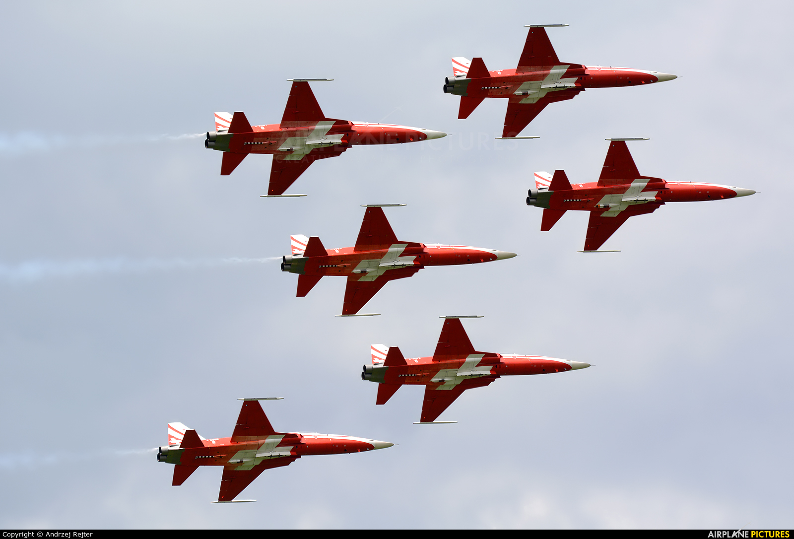 Switzerland - Air Force: Patrouille Suisse J-3090 aircraft at Zeltweg