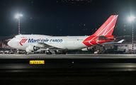 Rare visit of Martinair Cargo Boeing 747F to San Jose title=