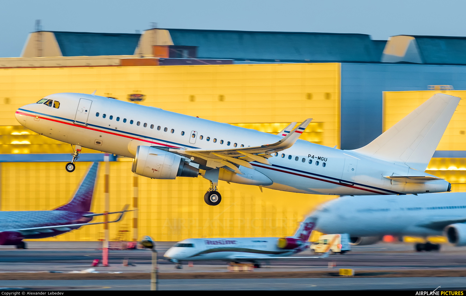 Global Jet Luxembourg P4-MGU aircraft at Moscow - Vnukovo