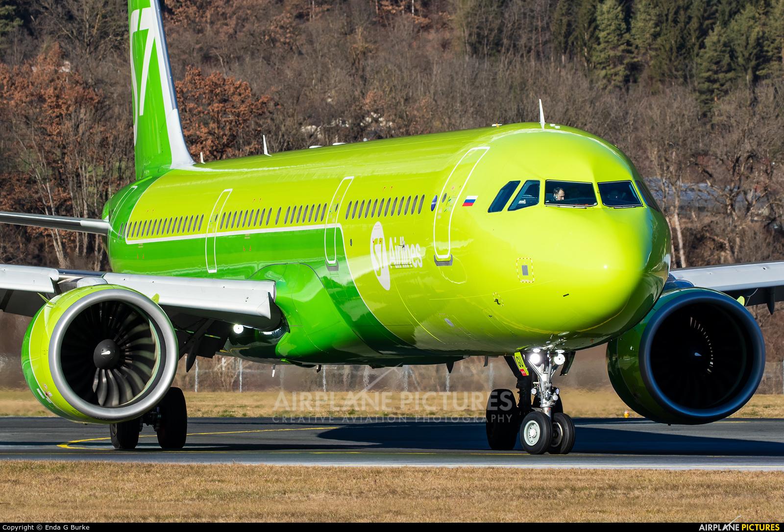 S7 Airlines VQ-BGU aircraft at Innsbruck
