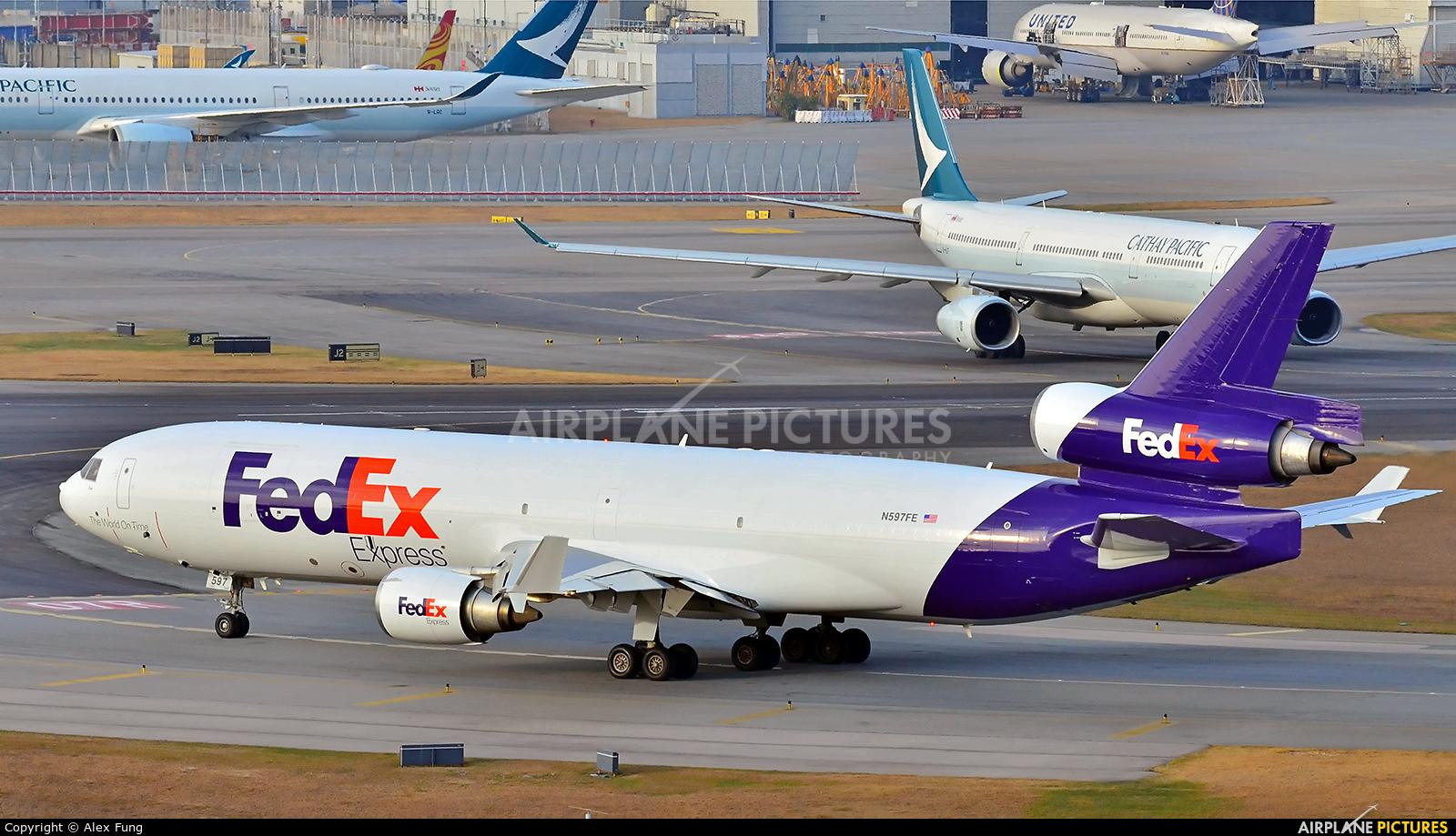 FedEx Federal Express N597FE aircraft at HKG - Chek Lap Kok Intl