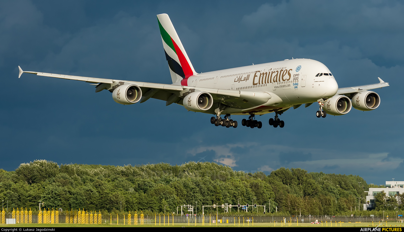 Emirates Airlines A6-EDQ aircraft at Amsterdam - Schiphol
