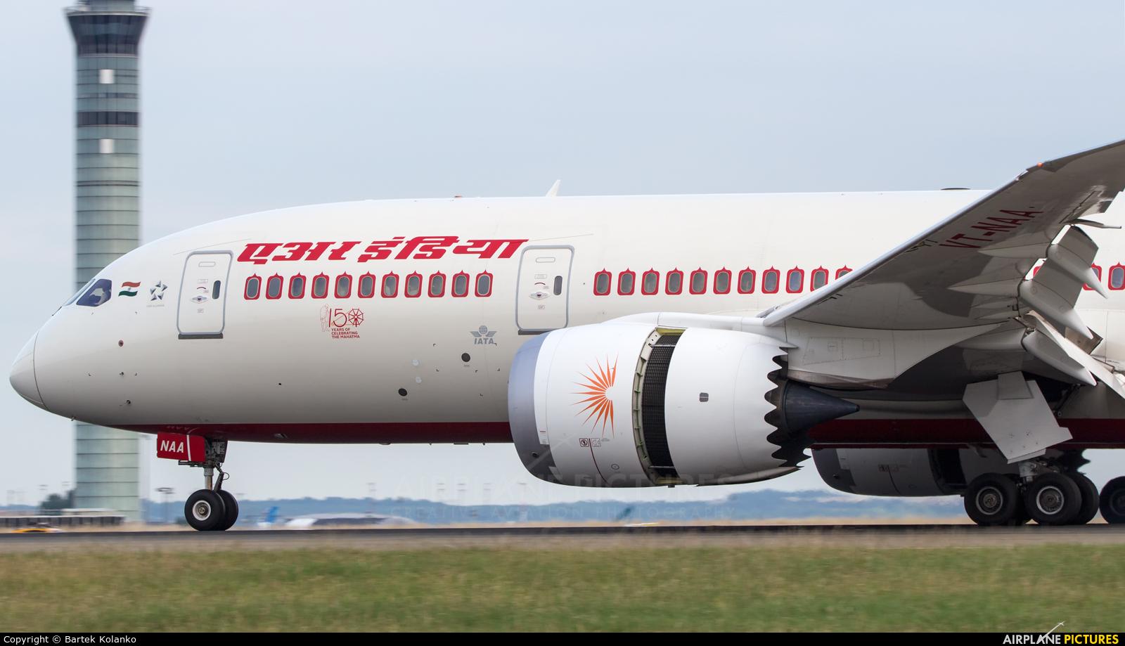Air India VT-NAA aircraft at Paris - Charles de Gaulle
