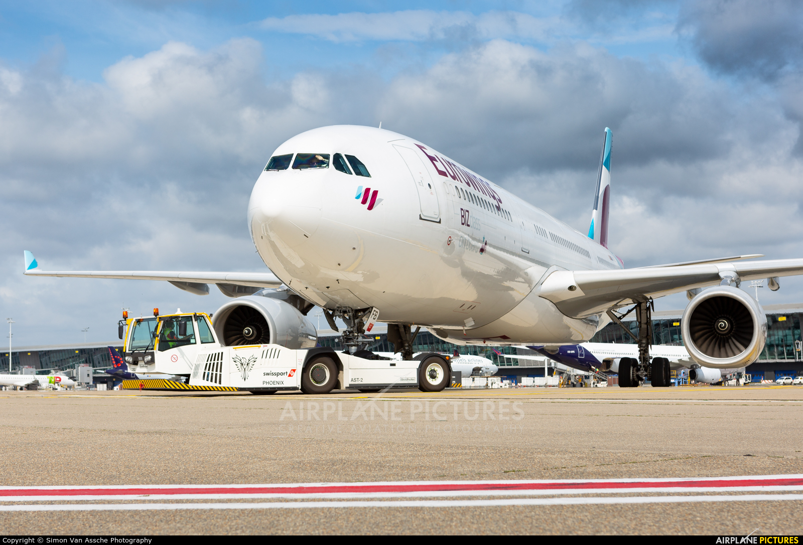 Eurowings OO-SFB aircraft at Brussels - Zaventem