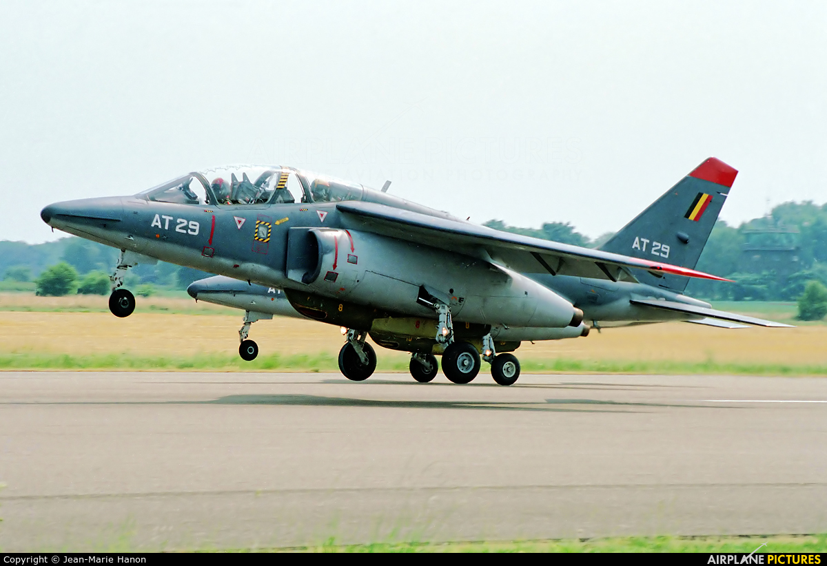 Belgium - Air Force AT29 aircraft at St Truiden/Bruste