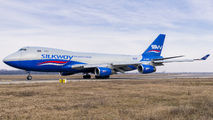 Rare visit of SilkWay Boeing 747-400F to Bucharest title=
