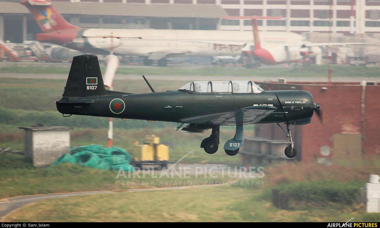Bangladesh - Air Force 6107 aircraft at Dhaka - Hazrat Shahjala Intl