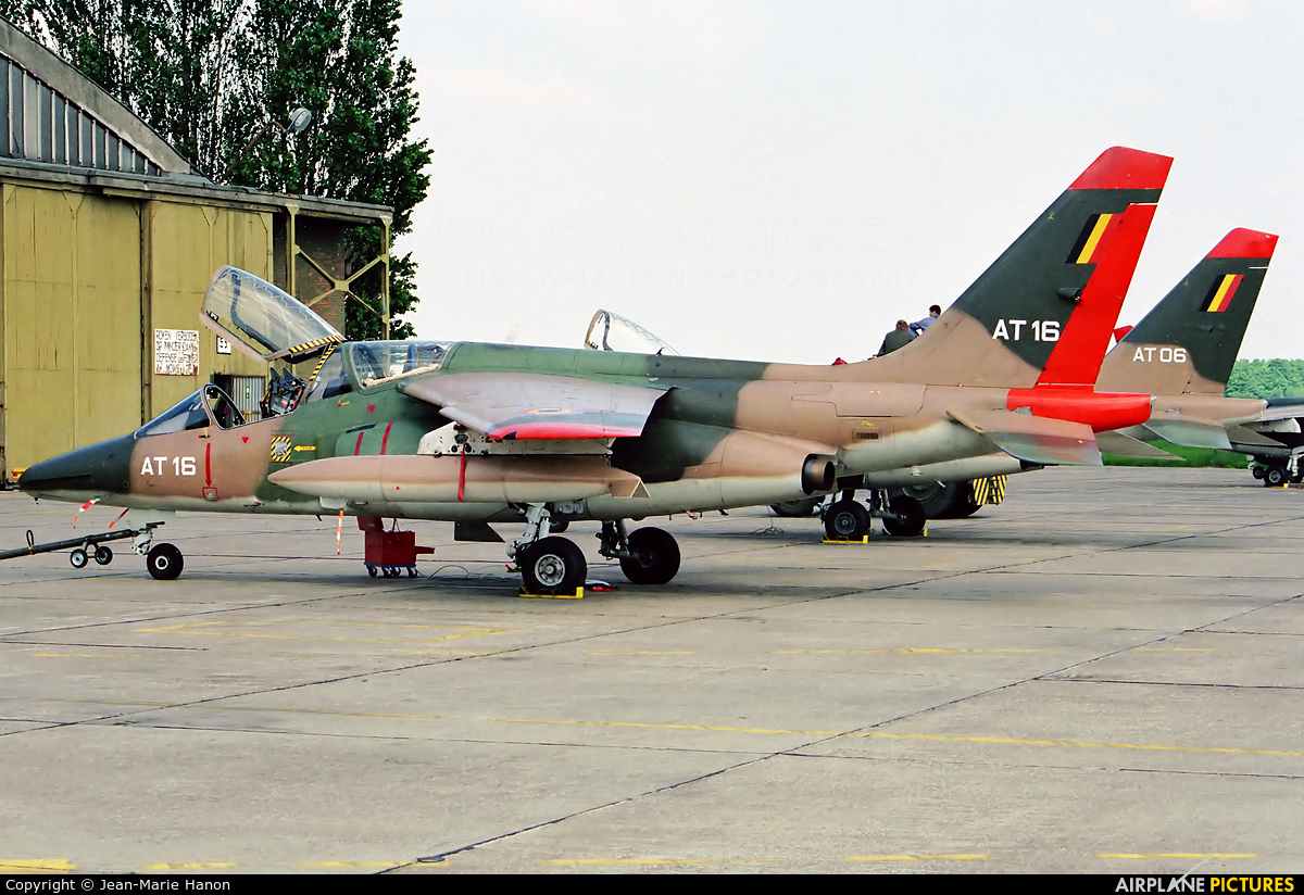 Belgium - Air Force AT16 aircraft at St Truiden/Bruste
