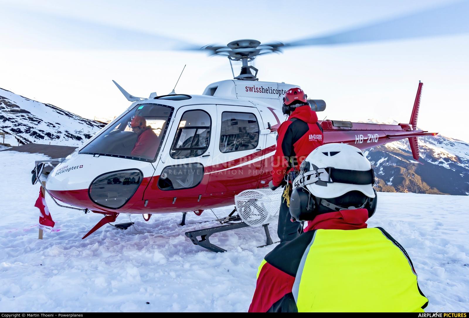 Swiss Helicopter HB-ZNQ aircraft at Off Airport - Kleine Scheidegg