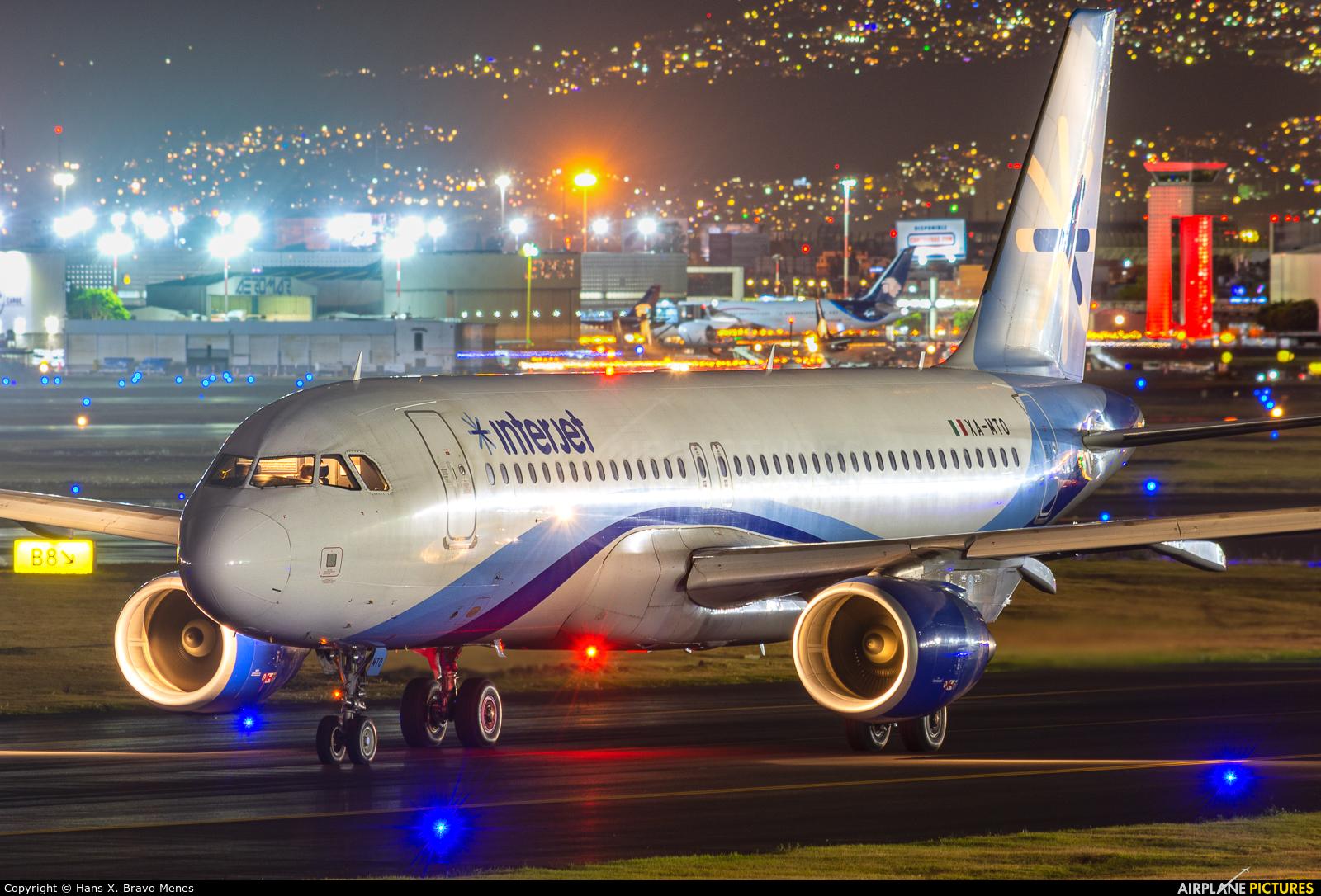 Interjet XA-MTO aircraft at Mexico City - Licenciado Benito Juarez Intl