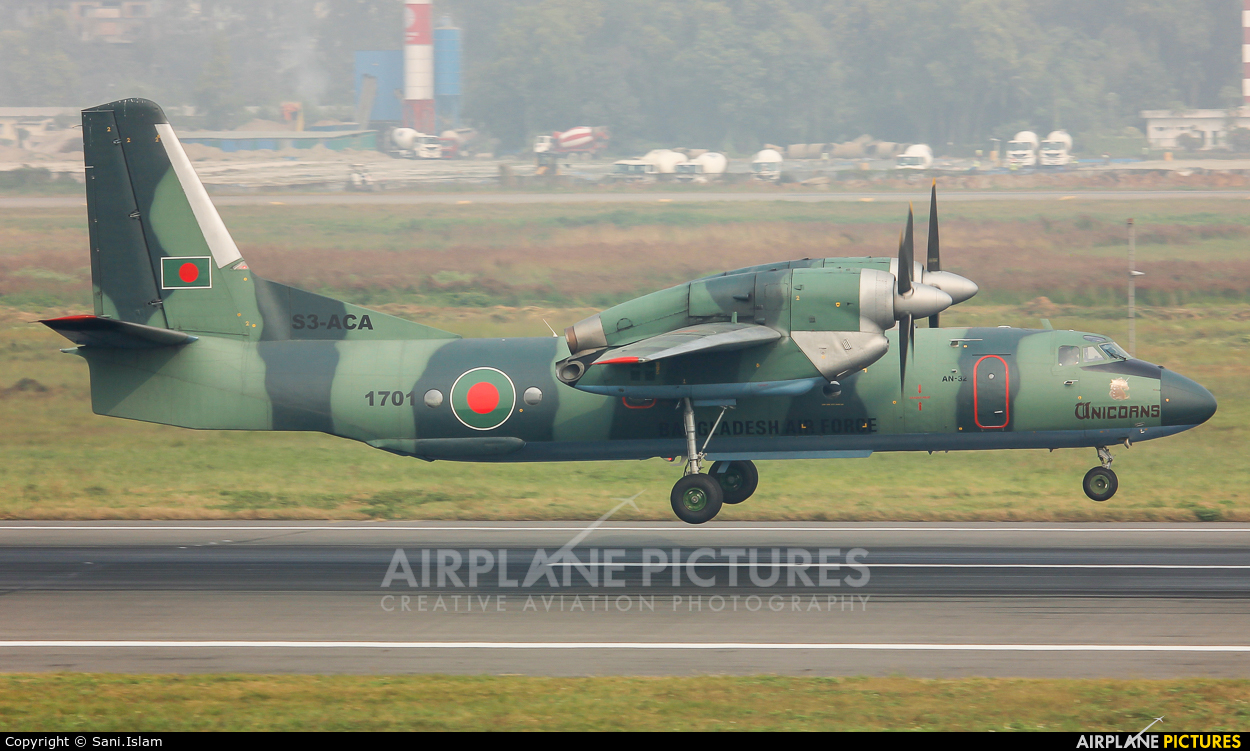 Bangladesh - Air Force S3-ACA aircraft at Dhaka - Hazrat Shahjala Intl