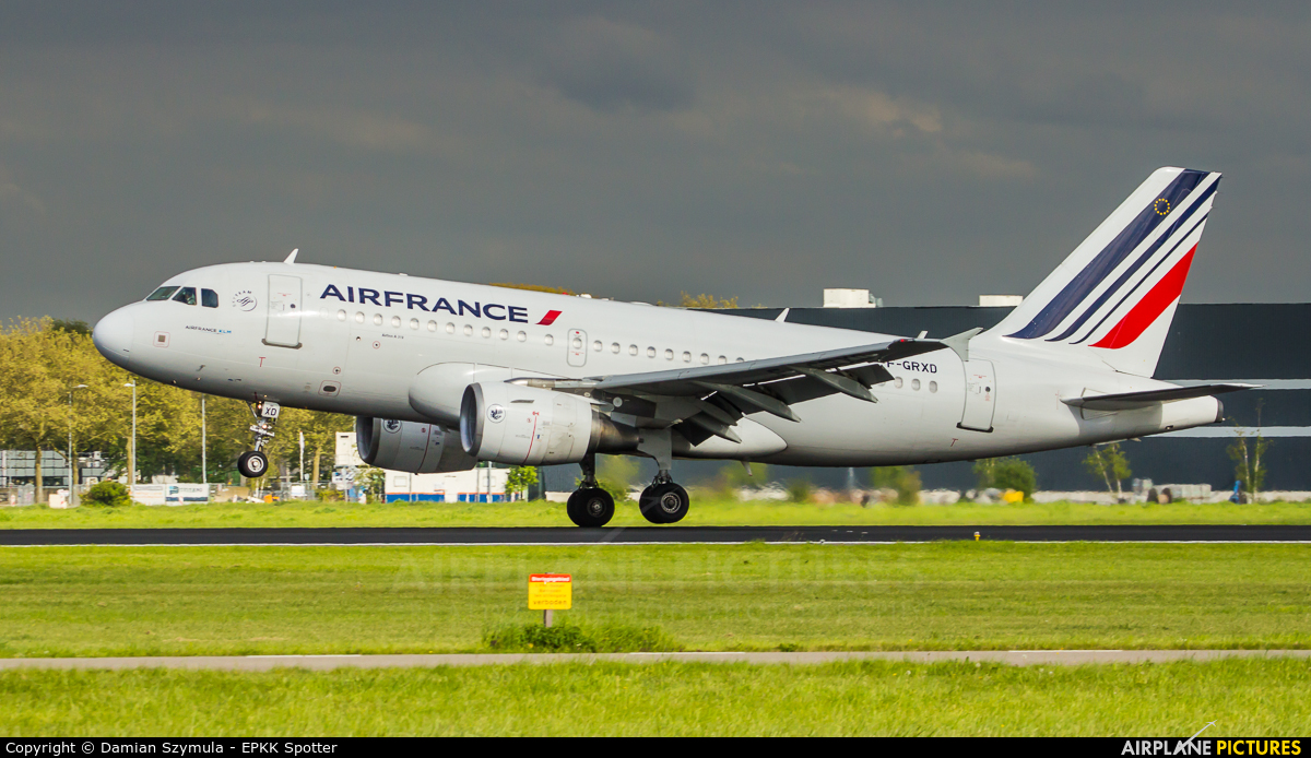 Air France F-GRXD aircraft at Amsterdam - Schiphol