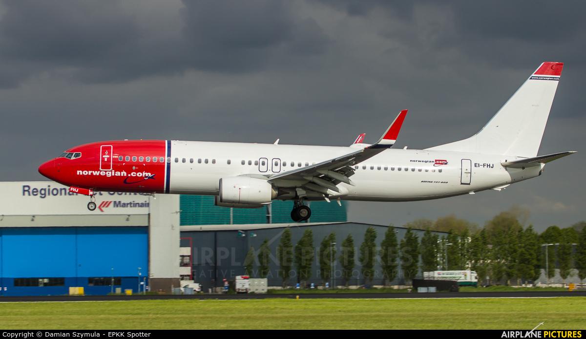 Norwegian Air Shuttle EI-FHJ aircraft at Amsterdam - Schiphol
