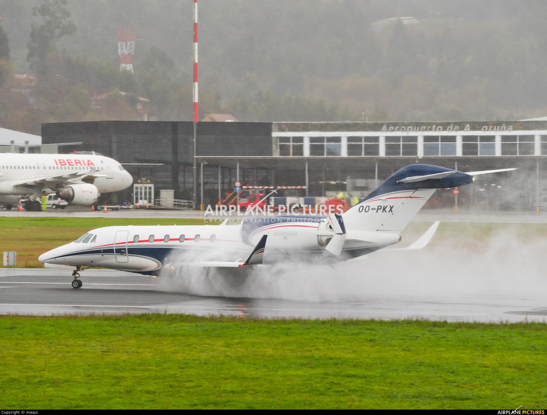 Air Service Liege OO-PKX aircraft at La Coruña