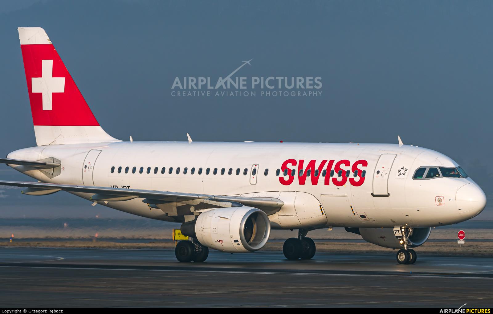 Swiss HB-IPT aircraft at Kraków - John Paul II Intl