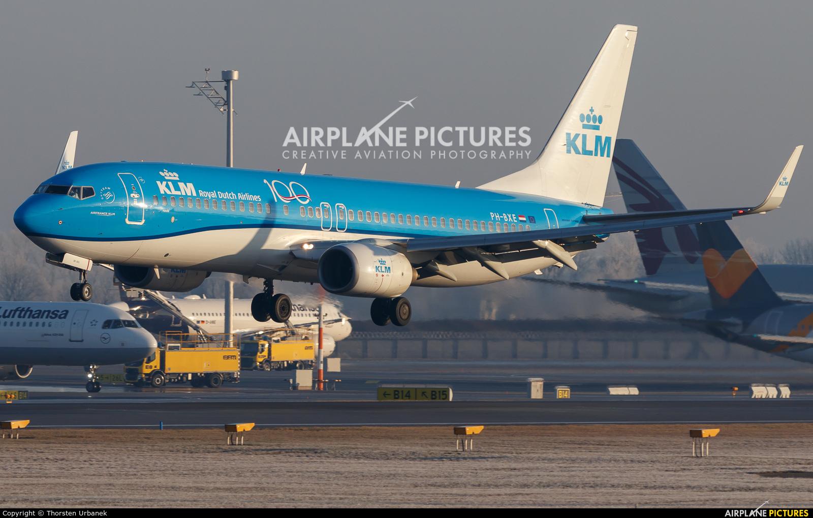 KLM PH-BXE aircraft at Munich