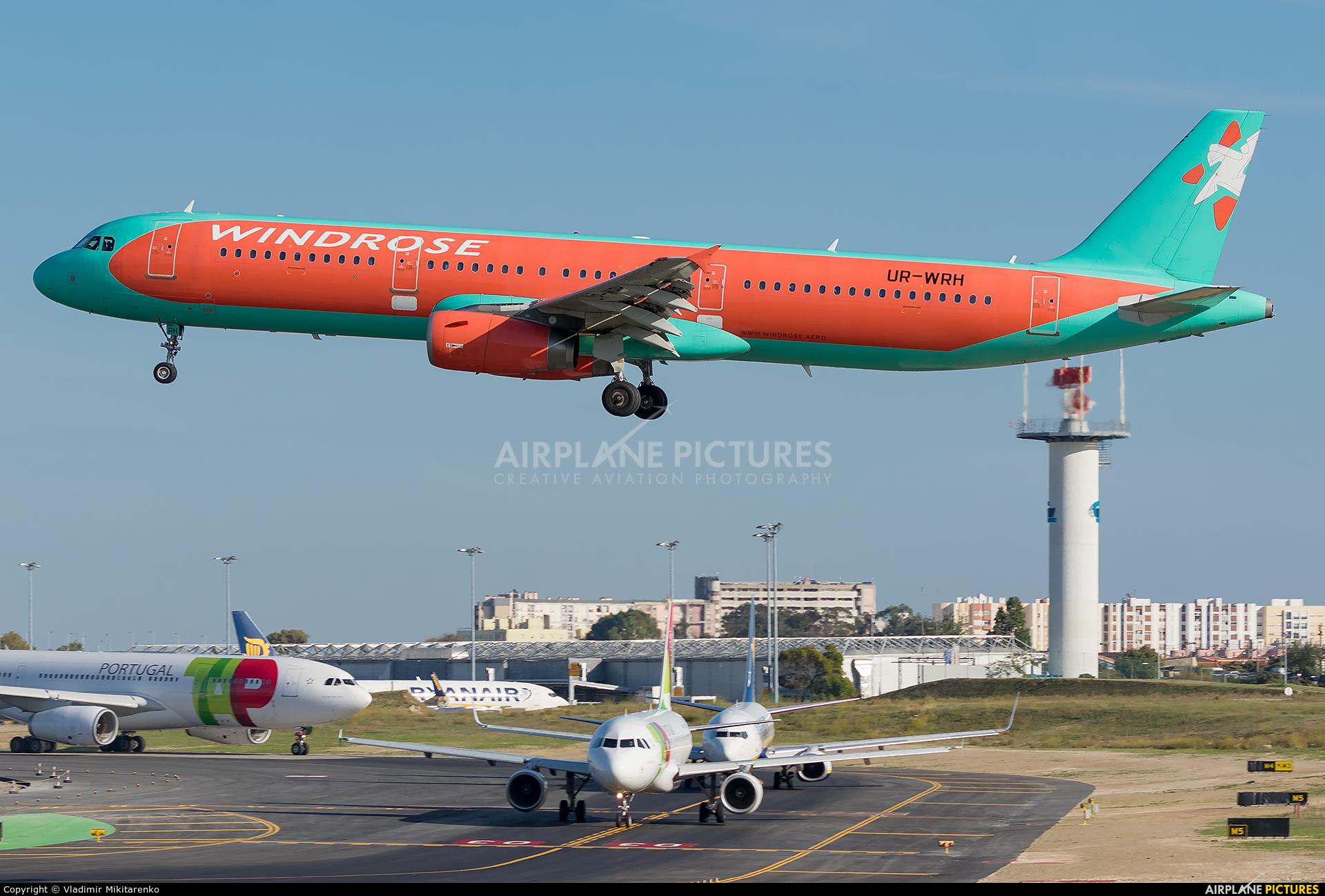 Windrose Air UR-WRH aircraft at Lisbon