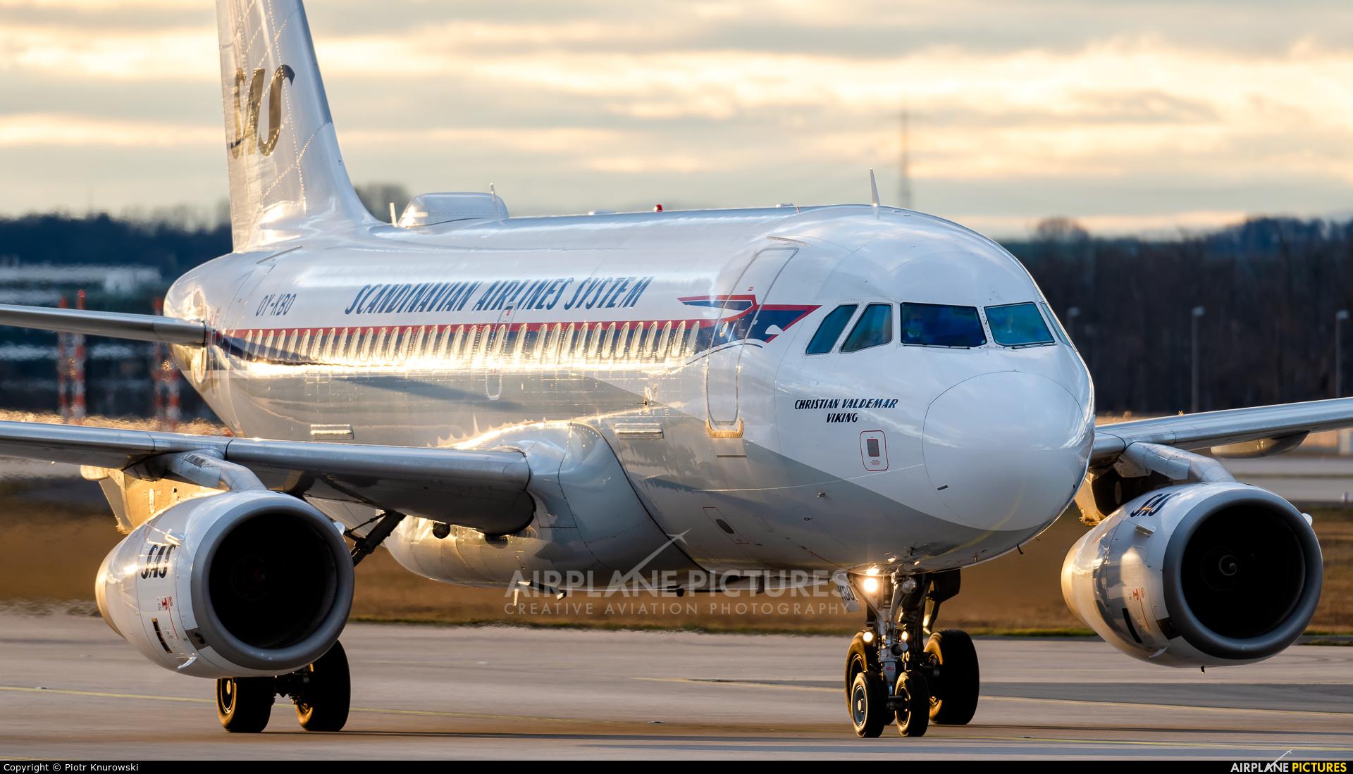 SAS - Scandinavian Airlines OY-KBO aircraft at Frankfurt