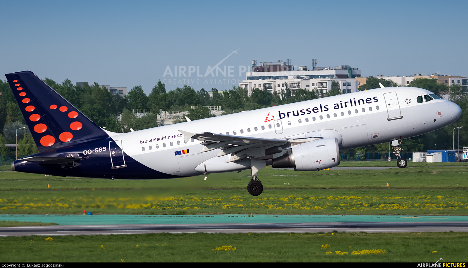 Brussels Airlines OO-SSS aircraft at Warsaw - Frederic Chopin