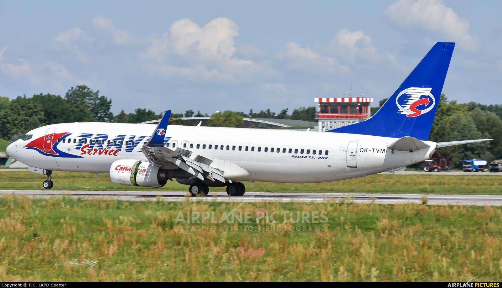 Travel Service OK-TVM aircraft at Pardubice