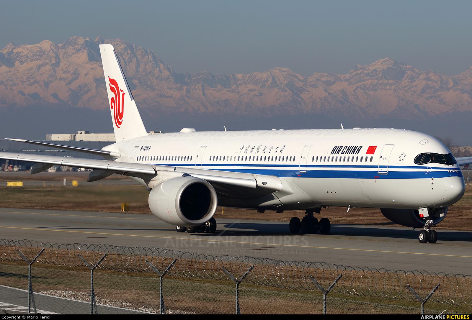 Air China B-1083 aircraft at Milan - Malpensa
