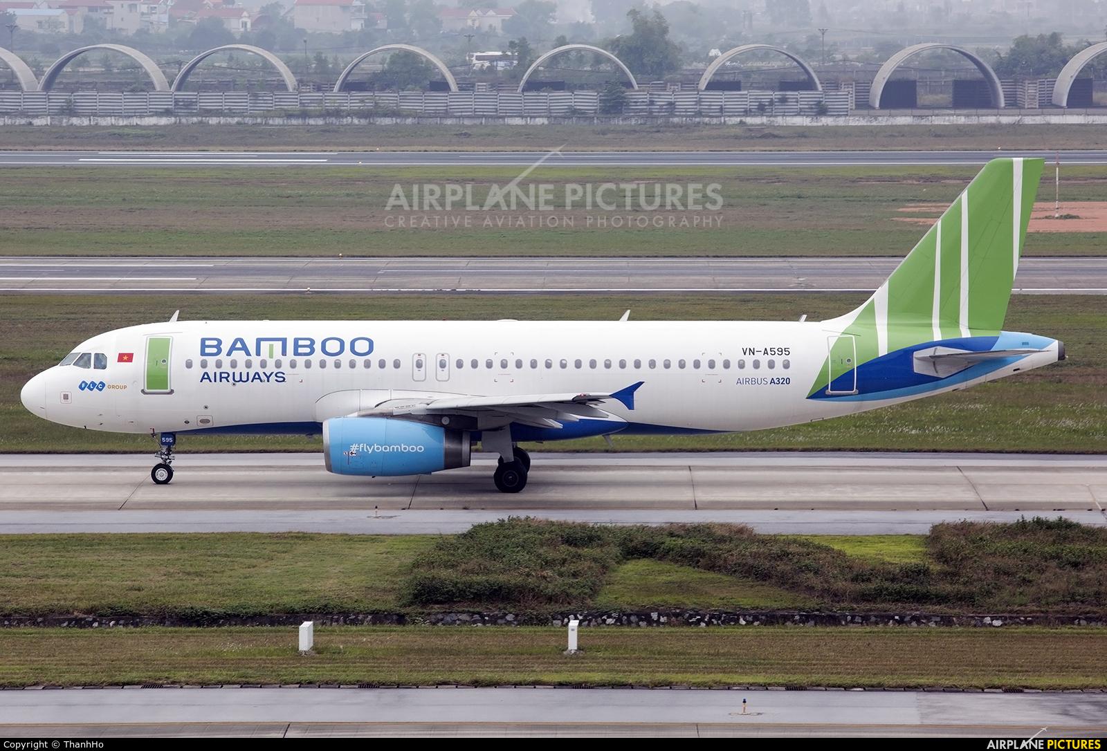 Bamboo Airways VN-A595 aircraft at Hanoi - Noi Bai