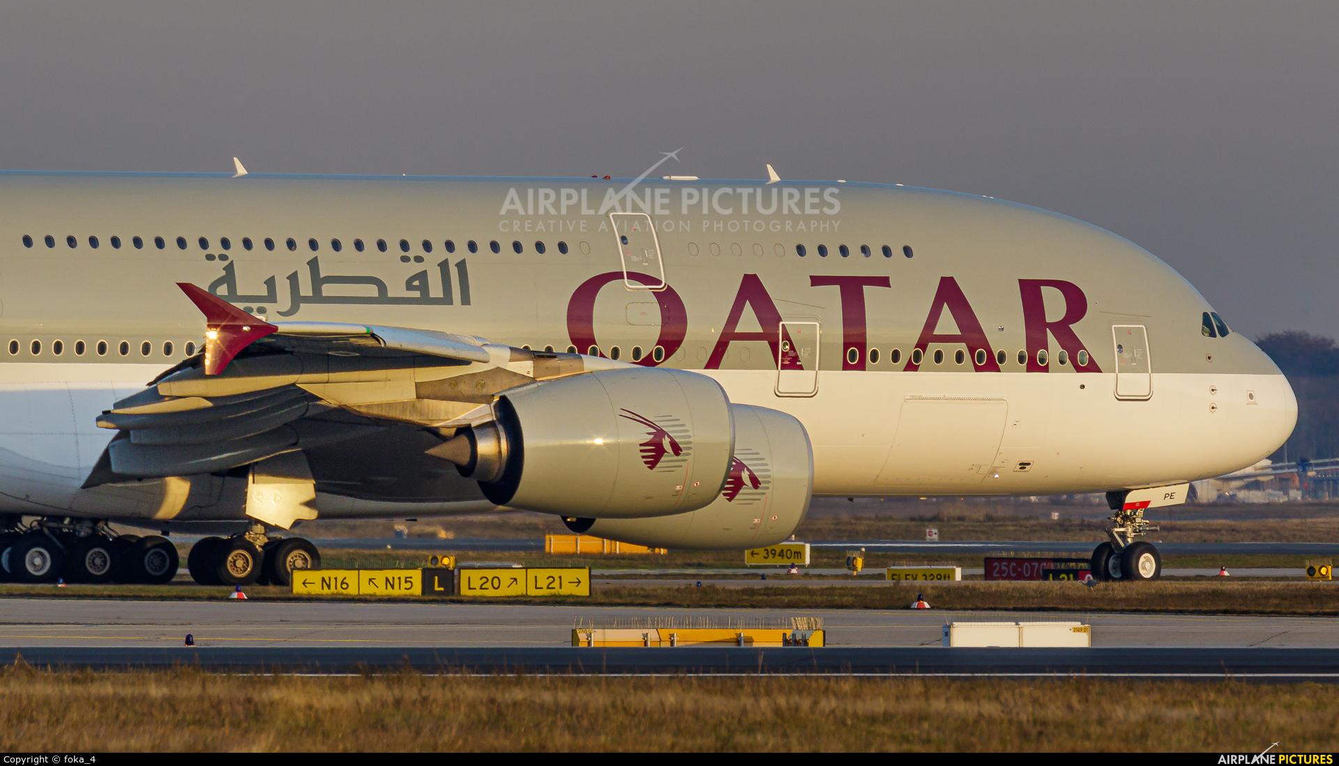 Qatar Airways A7-APE aircraft at Frankfurt