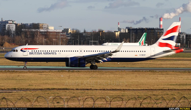 British Airways G-NEOP aircraft at Warsaw - Frederic Chopin
