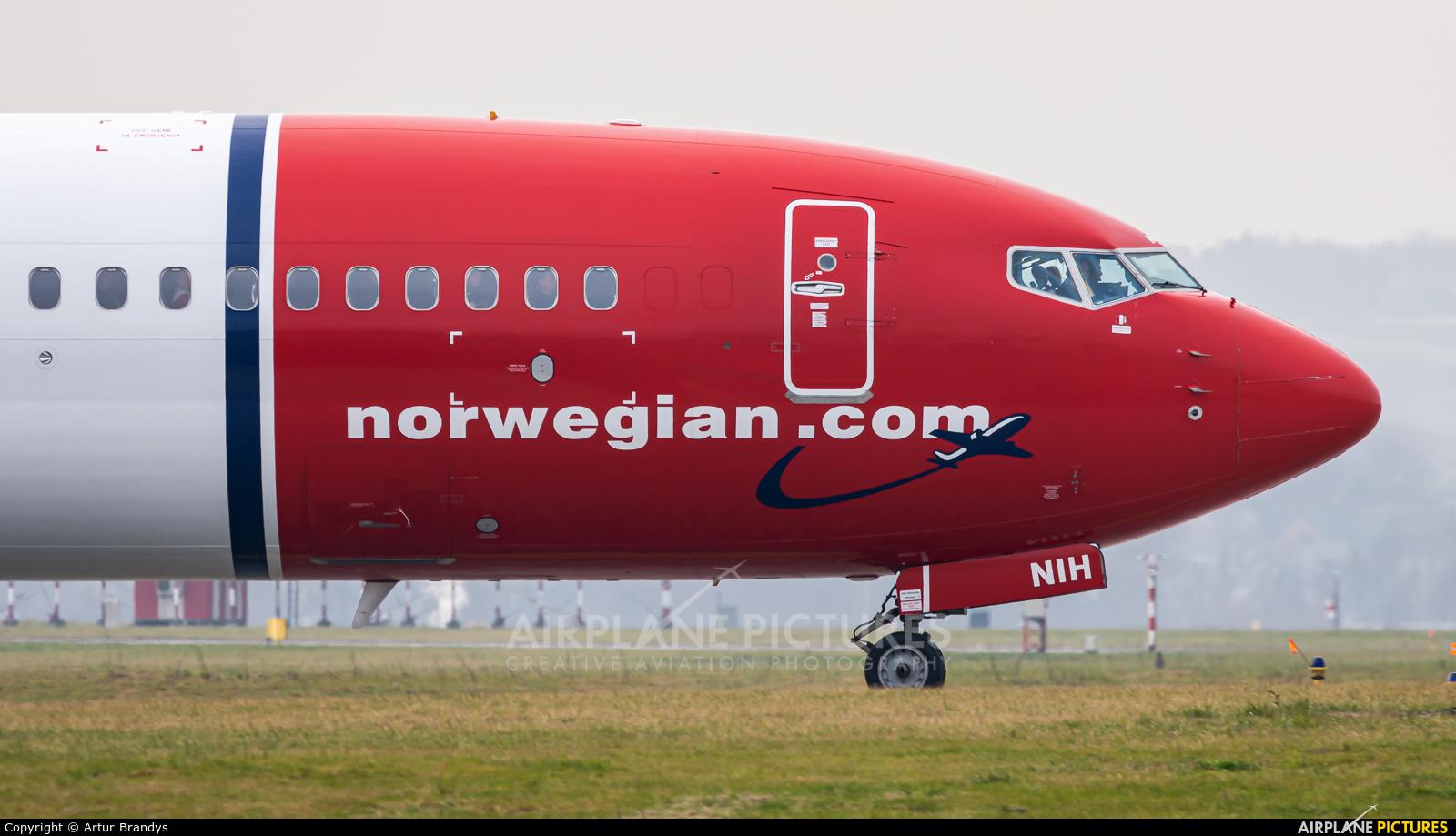 Norwegian Air Shuttle LN-NIH aircraft at Kraków - John Paul II Intl