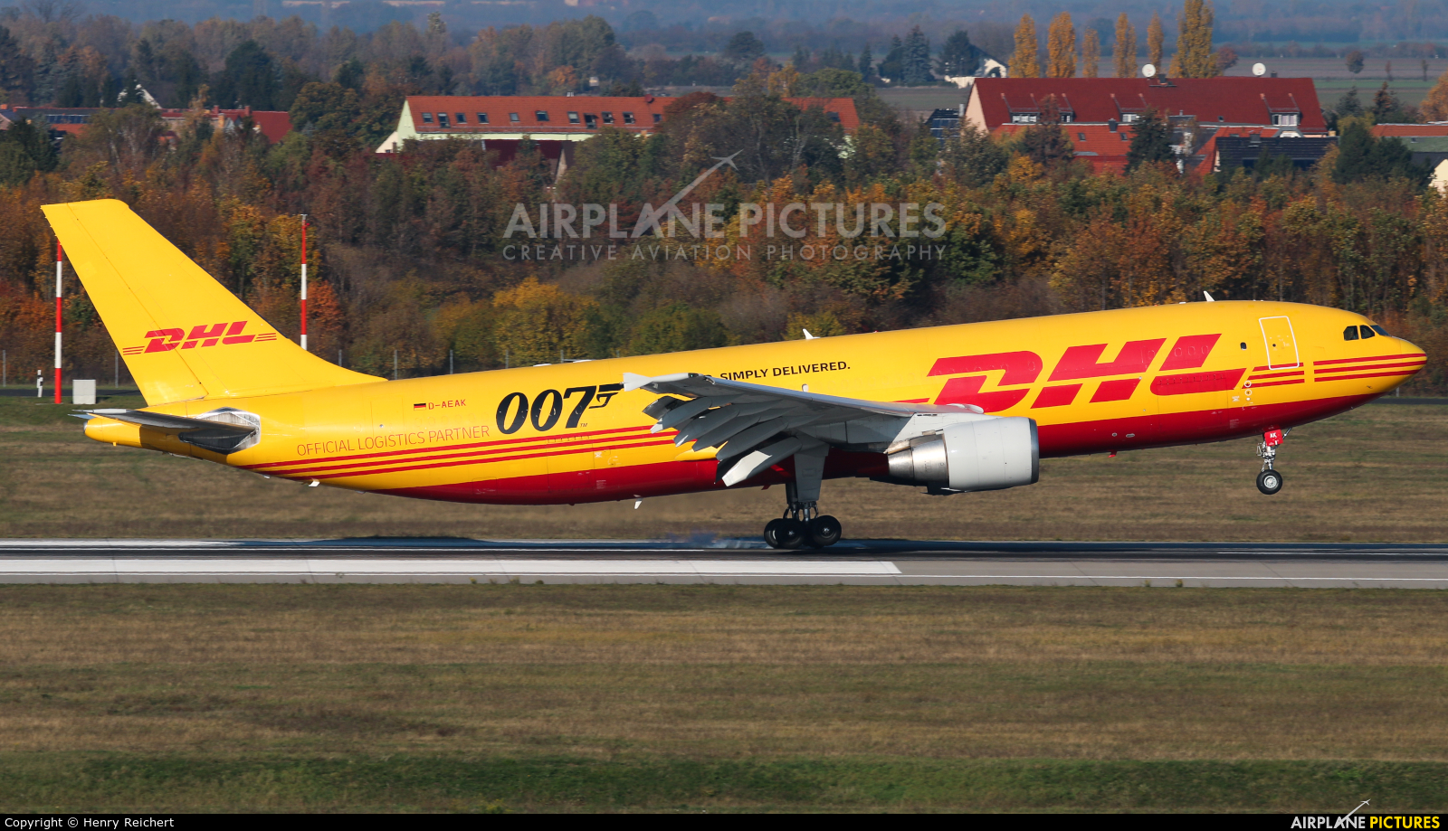 DHL Cargo D-AEAK aircraft at Leipzig - Halle