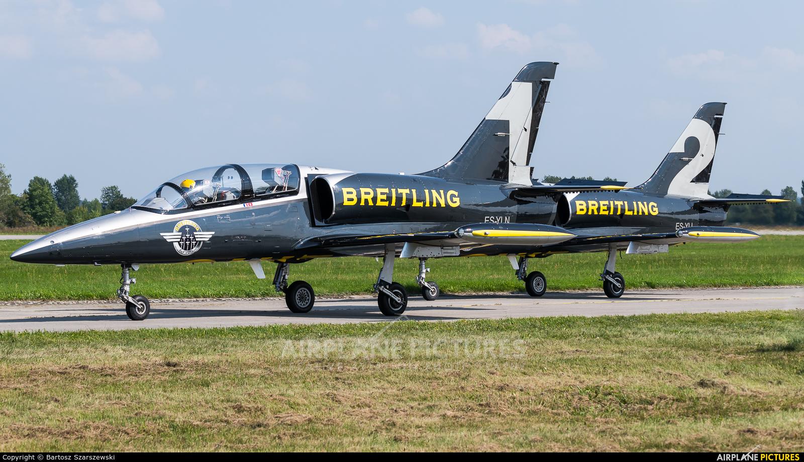 Breitling Jet Team ES-YLN aircraft at Hradec Králové