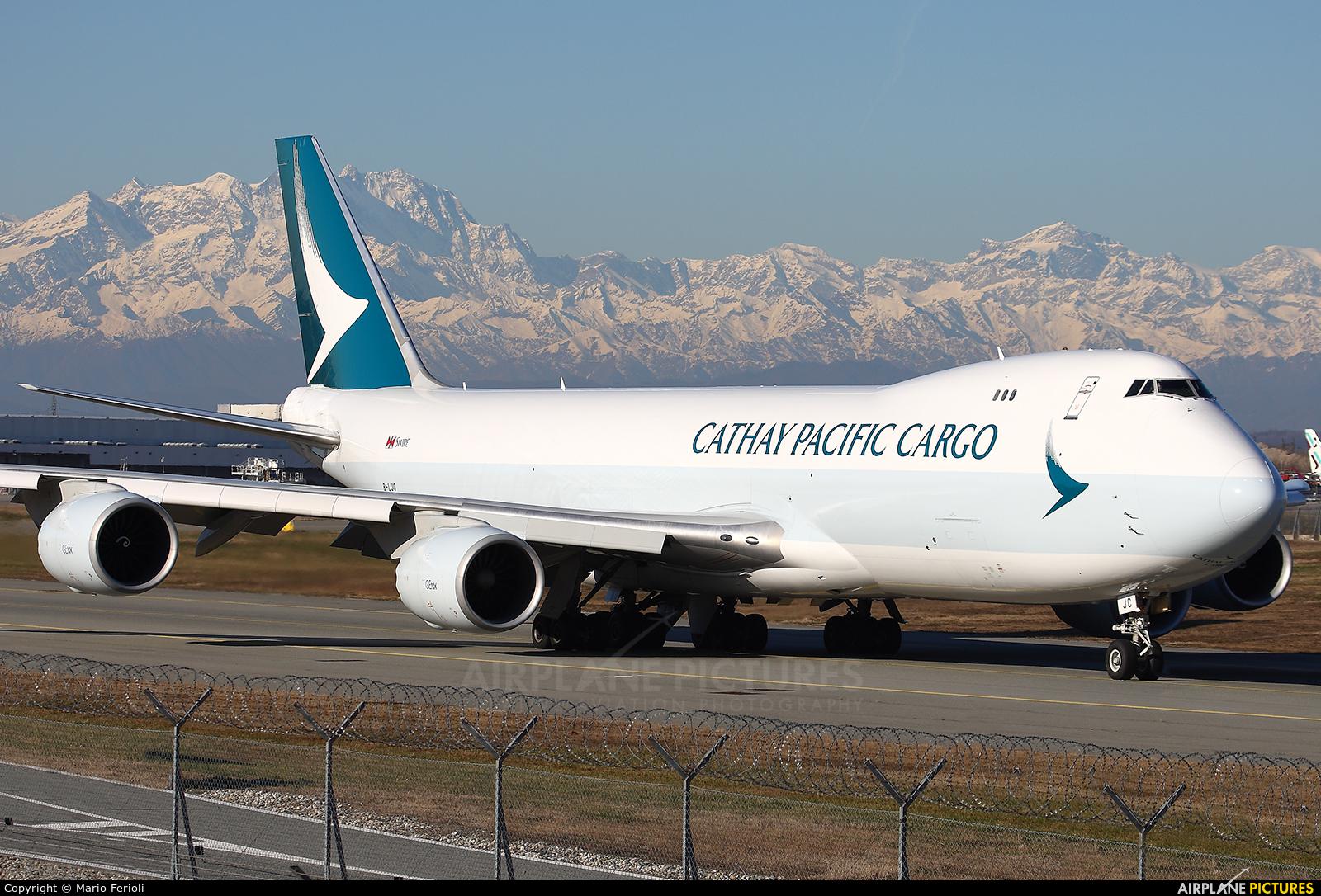 Cathay Pacific Cargo B-LJC aircraft at Milan - Malpensa