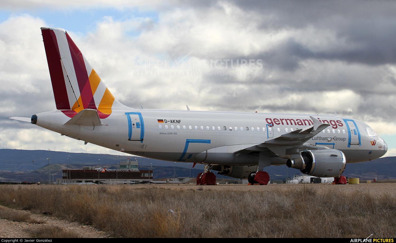 Germanwings D-AKNF aircraft at Teruel